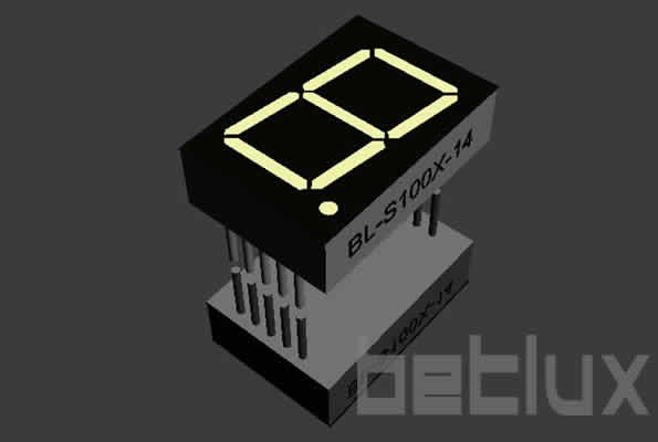 7 Segment LED - single digit 1.0 inch -semiconductor companies